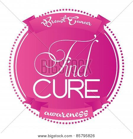 pink background with a white silhouette Find A Cure