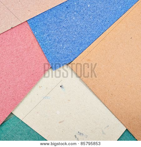 Composition of multiple cardboard paper sheets