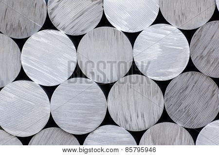 Aluminium rounds abstract