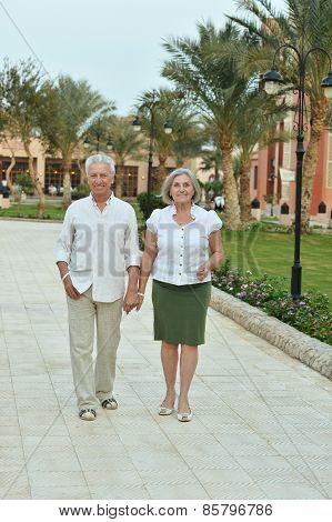 Senior couple at tropic