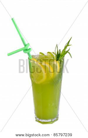 Lemon Lime Smoothie Shake In Glass