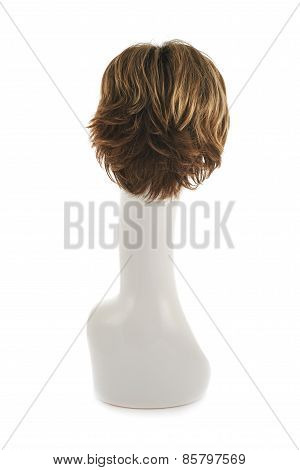 Hair wig over the mannequin head