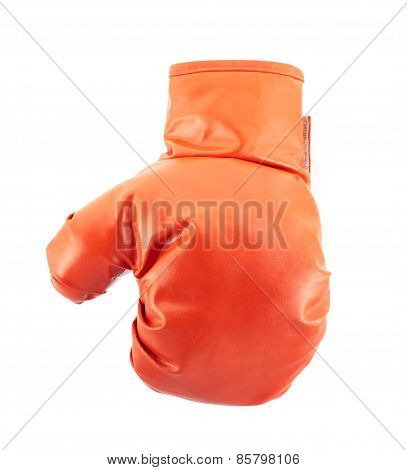 Red boxing glove isolated