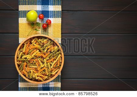 Raw Fusilli or Rotini Pasta