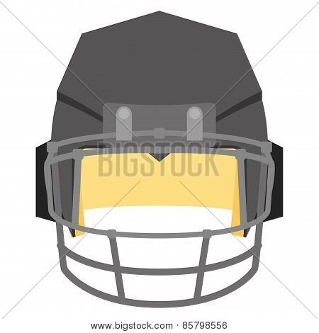 an isolated grey football helm on a white background