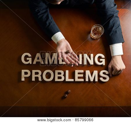 Phrase Gambling Problems and devastated man composition