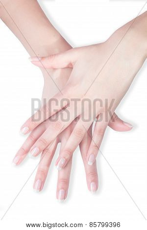 Beautiful hands with manicure