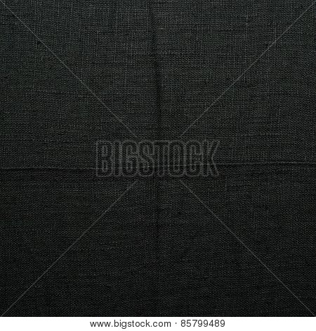 Black linen cloth fragment