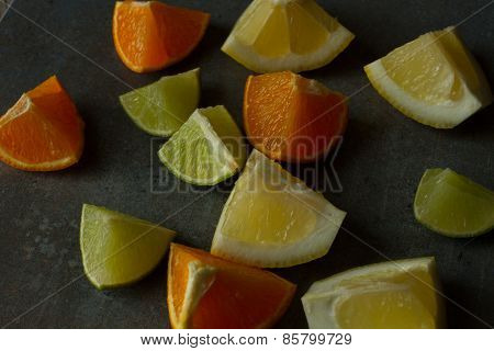 mix of fresh fruit for breakfast and for a person on a diet