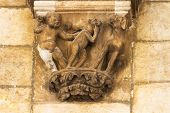 picture of art gothic  - Humour in old gothic decoration art in Dubrovnik old city - JPG