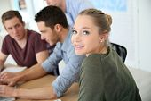 image of business class  - Group of young people in business training - JPG