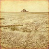 picture of michel  - Old style photo of Mont Saint Michel - JPG