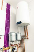 picture of boiler  - independent heating system with boiler - JPG