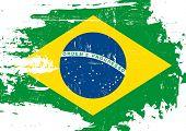image of brazilian carnival  - Scratched Brazilian Flag - JPG