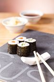 foto of souse  - sushi set with rolls - JPG