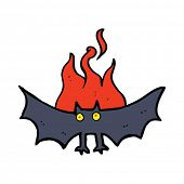 foto of vampire bat  - cartoon spooky vampire bat - JPG