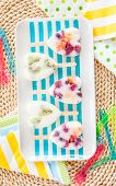pic of popsicle  - Homemade frozen popsicles with yogurt and fresh fruits - JPG