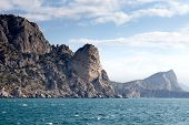 picture of crimea  - Beautiful view of the southern coast of the Crimea in the sunny summer day - JPG