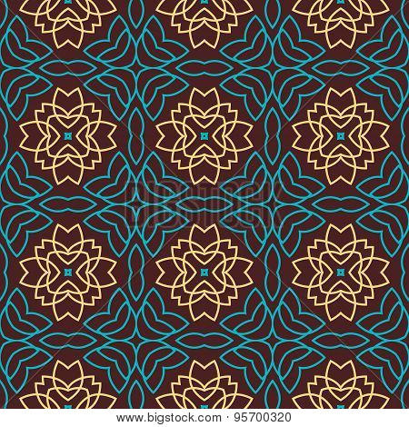 The Round Oriental Seamless Pattern