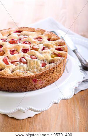 Plum Sponge Cake