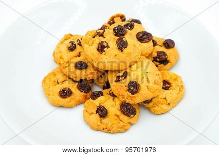 Raisin And Cornflake Cookies
