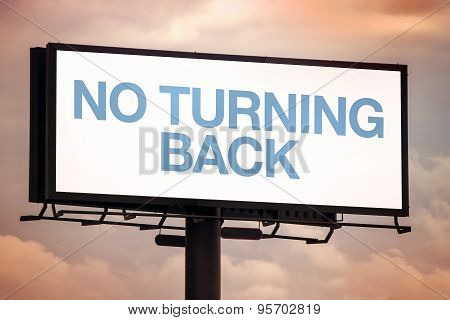 No Turning Back Motivational Message On Outdoor Advertsing Billboard