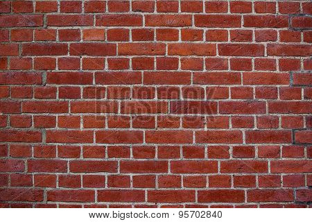 Rustic Red Bricks Street Wall
