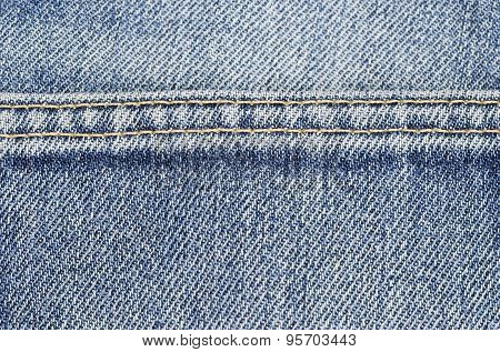 Blue jeans sewing thread