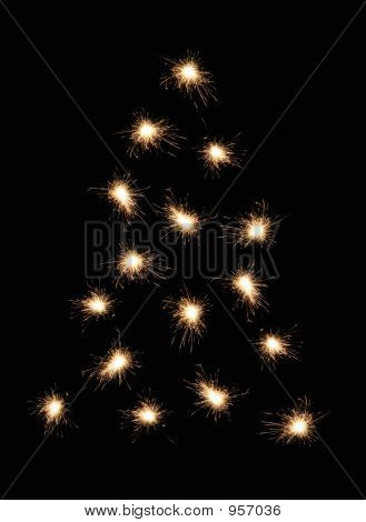 Sparkler Christmas Tree