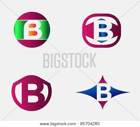 letter B logo template. Abstract icon