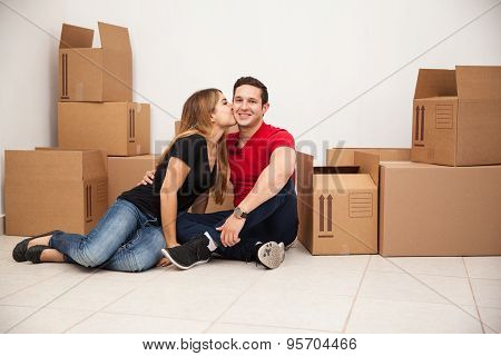 Couple In Their First Home