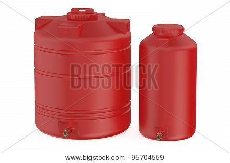 Red Water Tanks