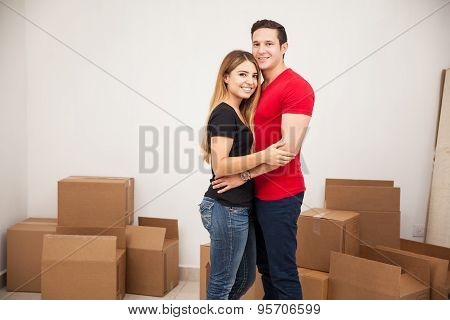 Newlyweds Moving Into Their Home
