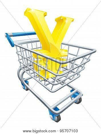 Yen Currency Shopping Cart