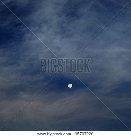 moon in dark night