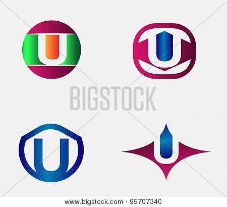 Letter U Logo vector alphabet design element template