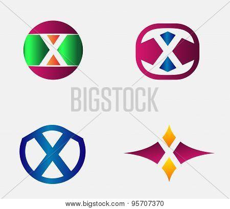 Letter X Logo vector alphabet design element template