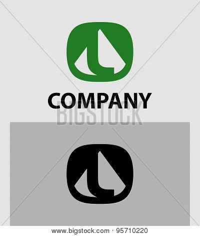 Letter L logo icon design template elements - vector sign