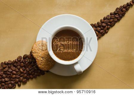 Still Life - Coffee Wtih Text Equatorial Guinea
