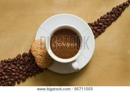 Still Life - Coffee Wtih Text Ethiopia