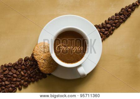 Still Life - Coffee Wtih Text Georgia