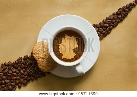 Still Life - Coffee With Map Of Germany