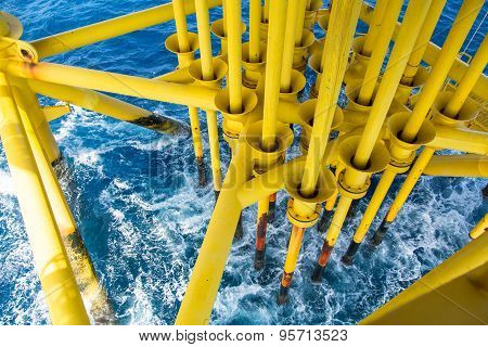 Oil and Gas Producing Slots at Offshore Platform, Oil and Gas Industry
