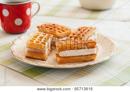 Freshly Baked Belgium Waffles