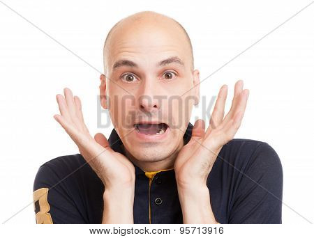 Surprised Bald Man