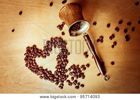 Coffee Turk And Coffee Beans