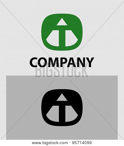 Letter T Abstract Logo Symbol