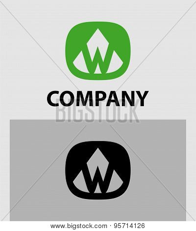 Letter W Abstract Logo Symbol