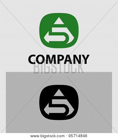 Abstract Number 5 logo Symbol icon set
