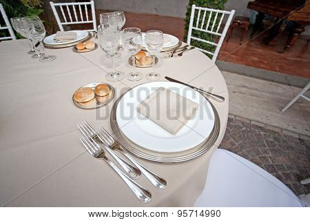 Table set for a reception